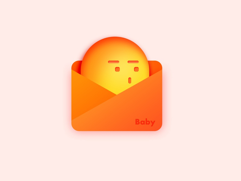 Baby icon ps color organge red model icon cute photoshop design ui