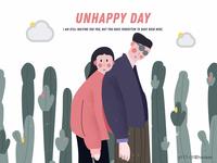 unhappy day