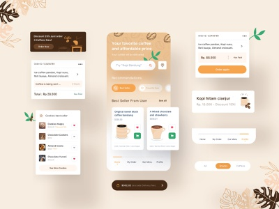 Khatulistiwa Coffee App chocolate minimalist uxdesign uidesign ui  ux apps dribbble website mobile interface dashboard designer smooth design coffee bean coffee shop