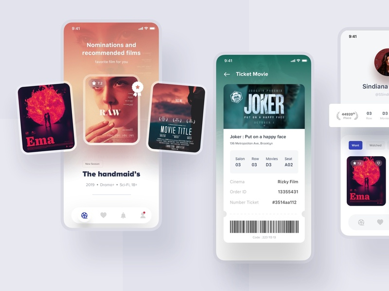 Prandana Movie apps #2 ios design app uidesign uiux actor red user experience interfaces minimalist dribbble apps website mobile designer interface movie poster smooth design films movies