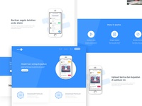landing pages news apps