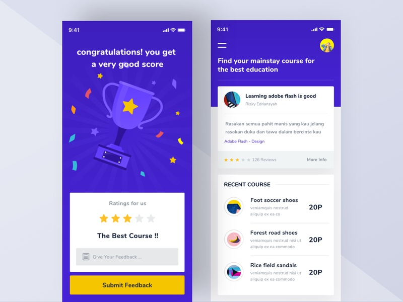 Course Apps by M Rizky Edriansyah for Orely on Dribbble