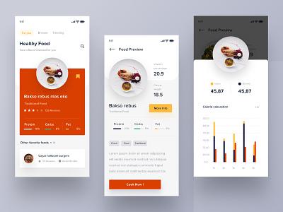Food calorie app 2018 2017 logo desktop smooth branding typography illustration apps user mobile landing dashboard dribbble interface website designer minimalist clean design
