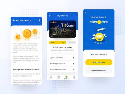 TIX Point Tiket.com App - Exploration icon web ui ux branding vector typography designer dribbble minimalist illustration apps landing mobile website dashboard smooth interface clean design