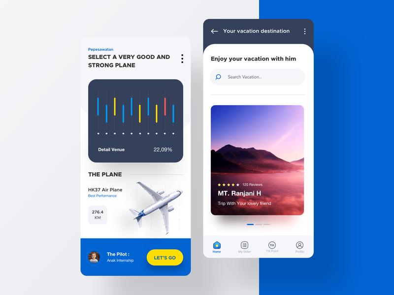 Vacation Trip page illustration landing apps desktop flight booking vacation tiket travel flight website dribbble mobile dashboard smooth interface designer clean minimalist design