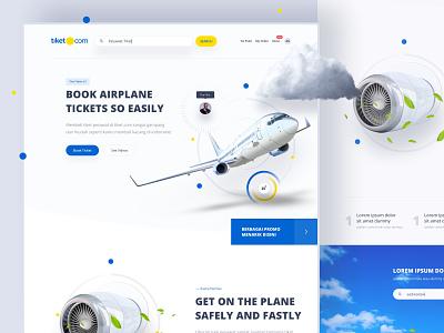 Tiket.com Flights - Exploration designs pilot yellow blue minimalist white experience design ota flight booking illustration desktop apps website dribbble mobile dashboard interface designer smooth