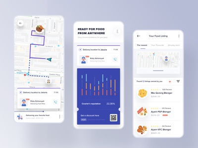 Order Food Apps maps white booking ticket restaurant drinks desktop landing dribbble dashboard interface designer clean smooth minimalist design