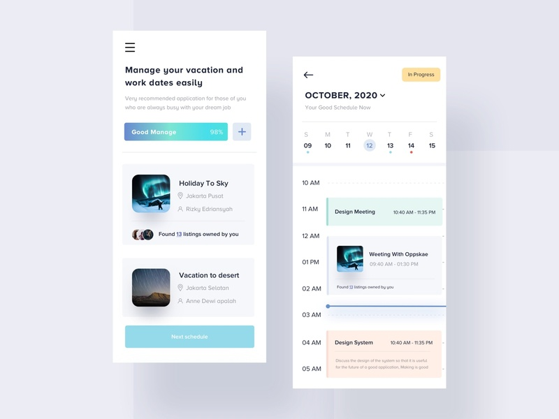 Schedule Managerial Apps manage clean experience work holiday 3d art calendar dates schedule 3d landing apps dashboard website mobile interface smooth designer minimalist design