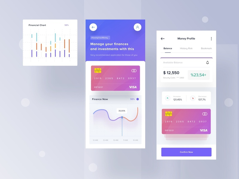 Manage Financial Apps android ios apple chart visa money transfer illustration desktop landing apps website mobile dashboard smooth minimalist design transfer