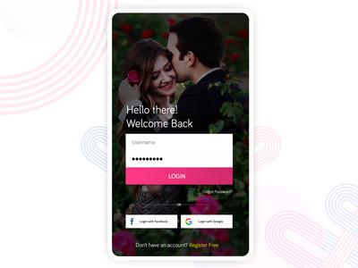 Matrimonial Login Screen
