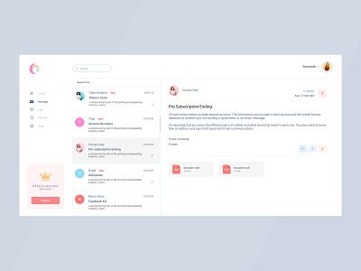 Mail client web app web app design clean design color ui ux