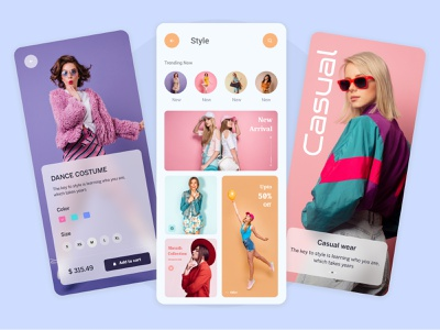 fashion clothing online store ecommerce app online store ecommerce fashion mobile app clothing app ui ux