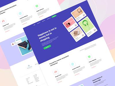 Product feature landing page shop product design website design ecommerce color ui ux