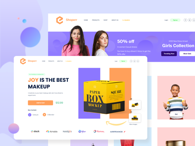 ecommerce product page  & collection page website landingpage homepage category buy cloth shop apparel collectionpage productpage color clean ecommerce uiux