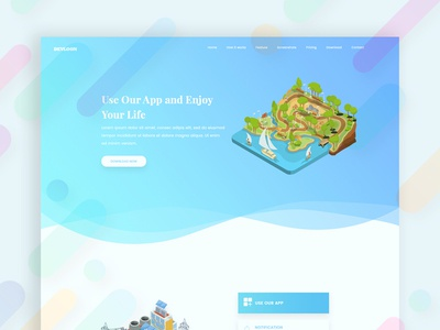 Landing Page Exploration illustration ui ux web design landing page design