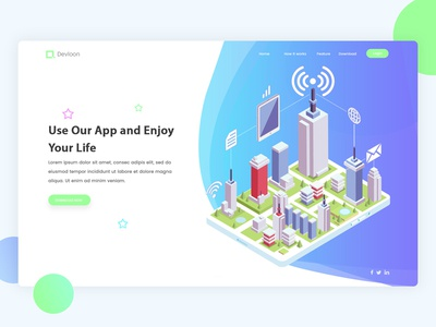 Landing Page Exploration #2 web app design landing website design illustration isometric perspective ui ux