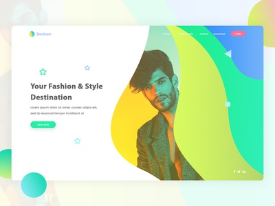 Landing Page Exploration #4 cloth fashion ecommerce seller button clean landing website design web app design ui ux