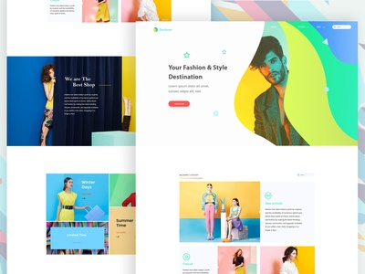 Landing Page Exploration #5 ui ux web app design landing website design clean button seller ecommerce fashion cloth