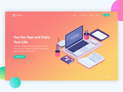 Landing Page Exploration #6 dribbble best shot illustration isometric perspective landing website design web app design ui ux