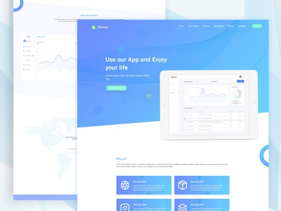 Landing Page Exploration (SaaS) #7 ui ux dashboard saas landing website design web app design