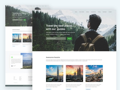 Travel Agency Website footer website travel web landing page ui ux