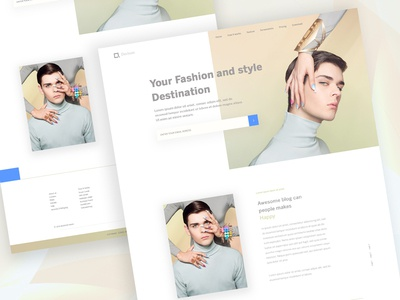 Landing Page Exploration (Fashion) #10 footer style color fashion website ui ux web landing page