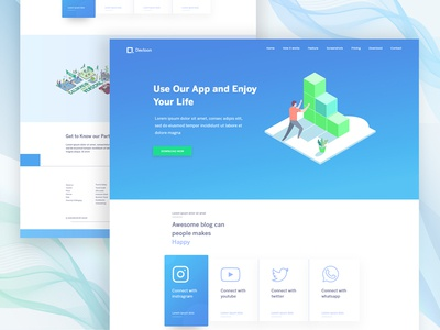 Landing Page Exploration #11 illustration style color app website ui ux web landing page