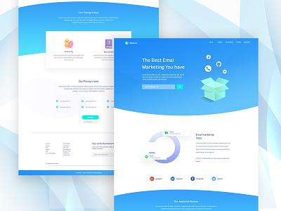 Email marketing Landing Page Exploration #13 website design landing page design email marketing clean illustration web ui ux
