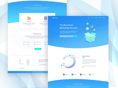 Email marketing Landing Page Exploration #13 website design landing page design email marketing clean illustration web ui ux