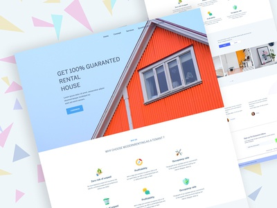 Apartment Rental Landing Page Exploration #14 real estate website roomate apartment rent button color landing website design clean ui ux
