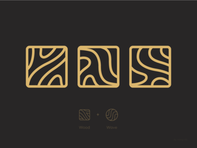 Wood and Wave mark earth land tree identity brand concept idea pattern shape icon logo texture line water wave wood