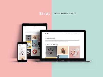 Sirat - Minimal Responsive Portfolio Template css3 html5 agency portfolio personal portfolio portfolio ux ui minimal clean web design web