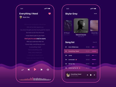 Music Player 1 music app daily color design illustration ui