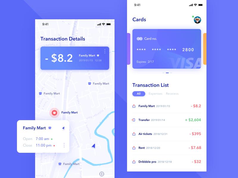 Wallet app-01 bank card wallet app design daily app ui