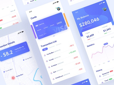 Wallet app bank wallet practice design app daily ui