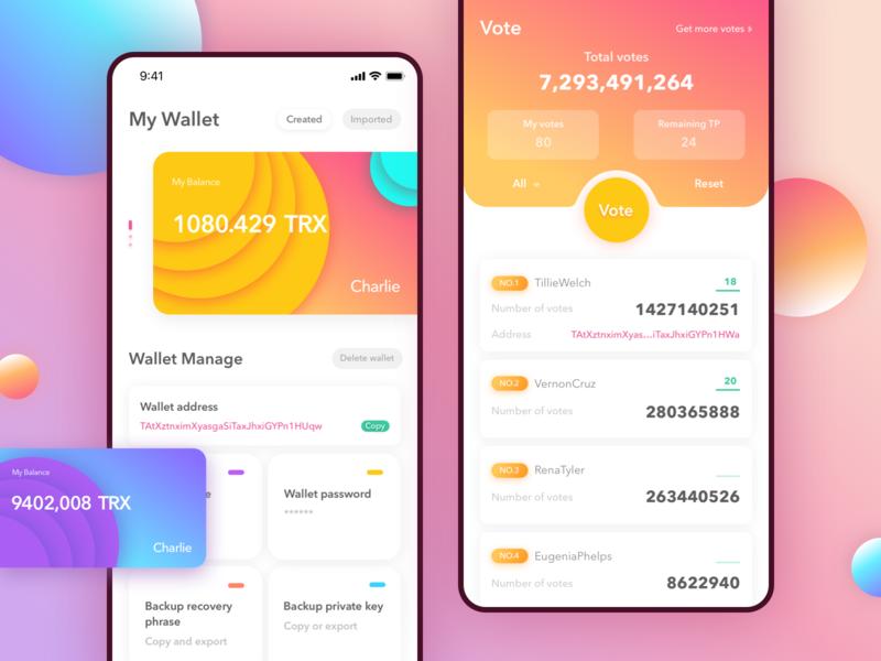 My Wallet bank card vote wallet practice design app daily ui
