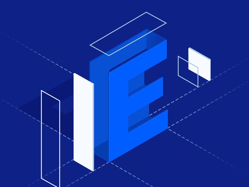 Simple E Illustration =) letter marketing blog web design illustration