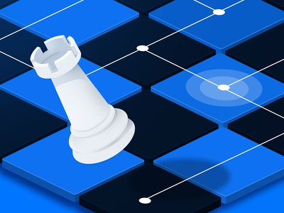 Marketing Smart Bidding Test strategy chess perspective illustration
