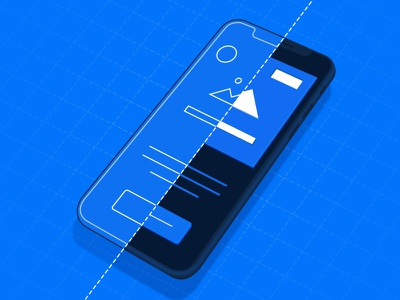 Mobile Page Design Conversions blueprint creation illustraion web perspective wireframe design