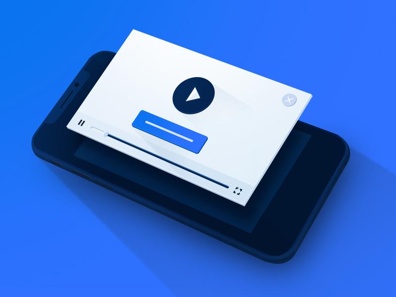 Rewarded Video mobile video design web perspective illustration
