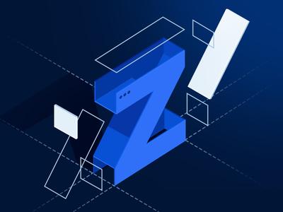 Z - Pattern  Version2 pattern letter vector 3d letter isometric perspective illustration