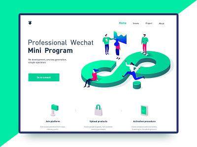 Mini Program 2.5d mini program ui web illustrations