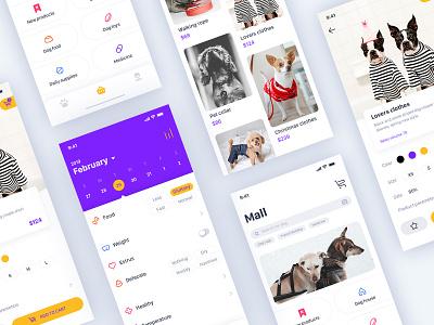 Pet application ui deisgn pet app ui 宠物护理 狗艺术 有创意的设计