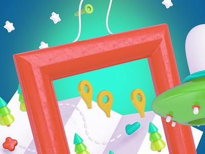 Bright Travel Items Scene Generator website webpack webdesign uikit ui travel scenegenerator scenecreator mockups mockup design bright