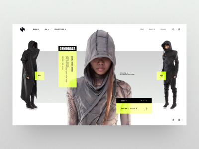 HeaderZ_06 design header landing minimal photoshop sketch ui ux web website