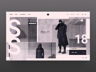 HeaderZ_07 website web ux ui sketch photoshop minimal landing header design