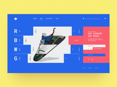 HeaderZ_12 design header landing minimal photoshop sketch ui ux web website