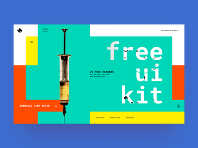HeaderZ | FREE UI KIT free ui kit free freebie webdesign uiux sketch inspiration website web minimal landing header design ux ui