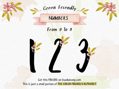 FREE Green Friendly Numbers