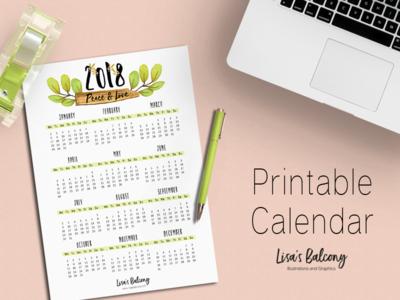FREE 2018 Calendar!